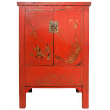 Red Lacquer Kitchen Cabinets by Chinese Red Lacquer Cabinet With Gilt Painting 19th Century For