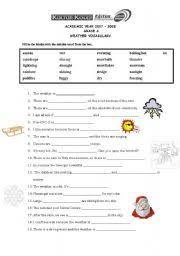english teaching worksheets weather vocabulary