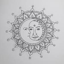 sun and moon mandala drawing search artwork
