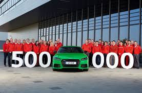 audi dealership design production milestone at the new car factory of audi hungaria half