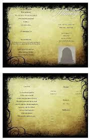 create funeral programs terra funeral program template program template funeral and