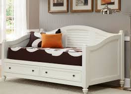 bed white wooden twin size daybed with drawers wonderful wood
