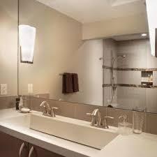 Bathroom Trough Sink Boston Bathroom Trough Sink Beach Style With Concrete Counter