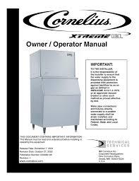 cornelius xtreme 330 series specifications