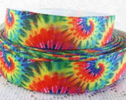 dyed ribbon tie dye ribbons etsy
