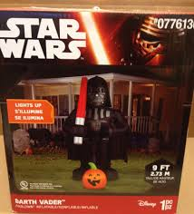 8 u0027 disney star wars darth vader pumpkin airblown inflatable gemmy