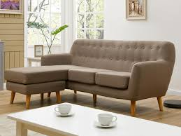 lolet canapé canapé d angle tissu 3 places taupe angle gauche