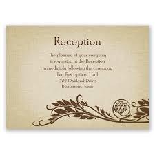 wedding reception card wording wedding card design brown floral vector decoration inspiring