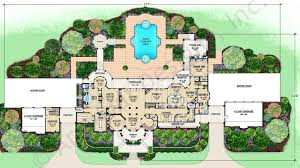 mediterranean home plans with courtyards floor courtyard house plans interior c shaped with mediterranean