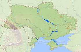 Ukraine On World Map by Ukraine Physical Map