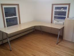 furniture interesting corner ikea galant desk with table lamp and