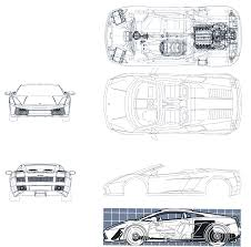 lamborghini gallardo blueprint lamborghini gallardo spyder smcars car blueprints forum