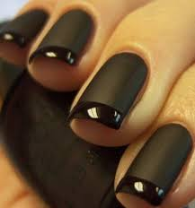 opi reverse matte tuxedo manicure lincoln park after dark