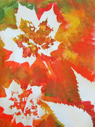autumn leaf painting leaf paintings autumn colours and autumn