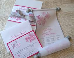 scroll invitations diy fabric scroll wedding invitations yourweek 2cfa4eeca25e