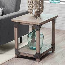 Rustic End Tables And Coffee Tables Belham Living Jamestown Rustic End Table Kitchen Dining