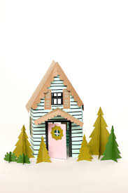 paper holiday houses u2013 free templates