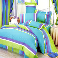 Lime Green And Purple Bedroom - lime green blue purple stripe teen bedding twin full queen
