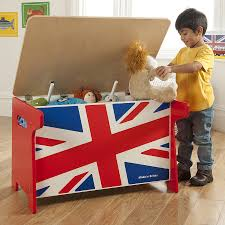 union jack wooden toy box and desk by millhouse