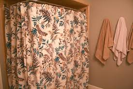 L Shaped Shower Curtain Rod L Shaped Shower Curtain Rod Chrome With Natural Leaf Shower