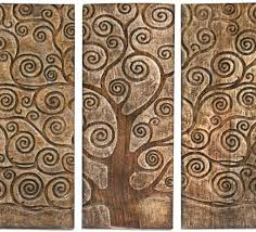 3 panel wood wall wall tree of mango wood wood