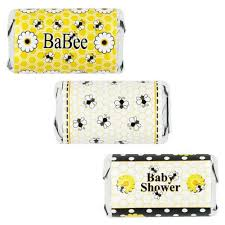 bee baby shower bumble bee baby shower mini candy bar stickers set of 54