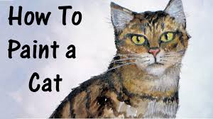 how to paint a cat in watercolor and colored pencil youtube