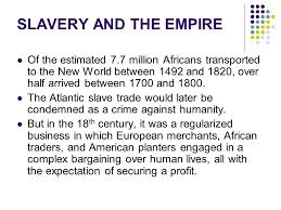 a of slavery in modern america the atlantic slavery freedom and the struggle for empire ppt