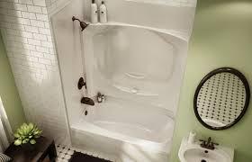 built in bathtub shower combination rectangular acrylic kdts built in bathtub shower combination rectangular acrylic kdts 3260 maax bathroom