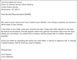 how to write a letter congressman template docoments ojazlink