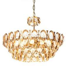 How To Refurbish A Chandelier Palwa Crystal Glass Gold Brass Chandelier Refurbished Lamp 1960
