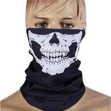 punk new 3 in1 men women unisex skull hat neck tube snood face