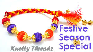 bracelet made with thread images How to make a rakhi cum bracelet at home using silk thread jpg