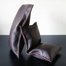 leather beanbag bookends the green head