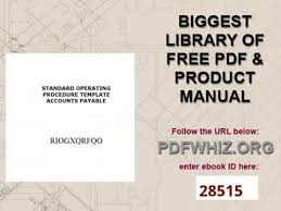 standard operating procedure template accounts payable youtube