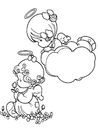 angel precious moments coloring pictures precious moments