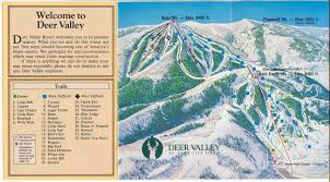 Park City Utah Trail Map by Deer Valley Resort Skimap Org
