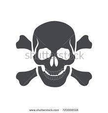 skull crossbones icon sign danger poison stock vector 720008518