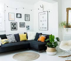 canap cocooning deco murale noir et blanc amazing salon cocooning blanc avec canap