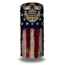 American Flag Skull Freedom Rider Bandana Skull Face Masks Hoo Rag