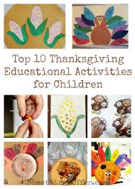 top 10 thanksgiving educational activities for children