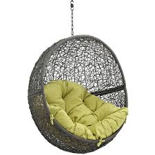 Outdoor Patio Swing by Modway Eei 2654 Gry Per Hide Outdoor Patio Swing Chair Without