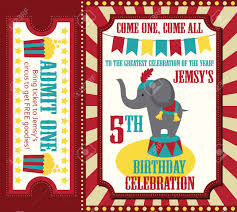 Birthday Invitation Cards Design Kid Birthday Invitation Card Design Vector Illustration Royalty