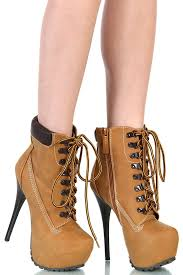 womens boots timberland style heel boots timberland style camel