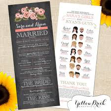 print your own wedding programs take your wedding programs to the next level with these ideas
