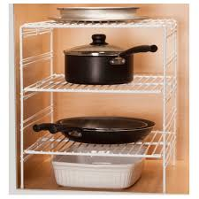 cabinet organizers bed bath beyond image grayline adjustable helper shelf