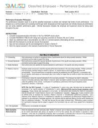 employee performance evaluation form free download printable