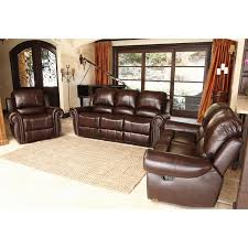 Leather Living Room Sets Sale Furniture Brown Costco Leather Sofa With Rustic Coffee Table On