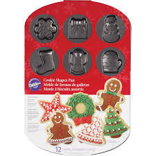 christmas cookie shapes pan wilton