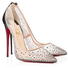 christian louboutin follies strass 120mm patent leather pointed